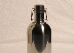 STAINLESS STEEL GROWLER – 2 Liter/64 oz. Single Wall Mirror -Blank